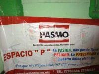 Pancarta PASMO en el evento